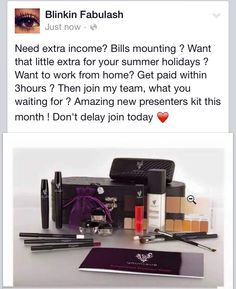 What you waiting for join my team today http://www.facebook.com/BlinkinFabulash #BuisnessOpportunity #lovinleeds #party