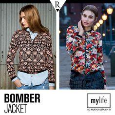 ¿Cuál te gusta más? #BomberJacket tribal o floreada. Ésta es una prenda imprescindible para tu ropero esta temporada. Descubre más sobre ella en www.mylife.com.pe #Tendencias #MeFascinaRipley