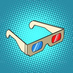 Stereo 3d glasses for cinema by studiostoks on @creativemarket