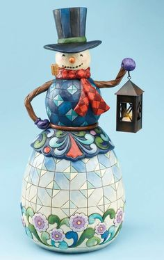 Snowman With Lantern::Jim Shore