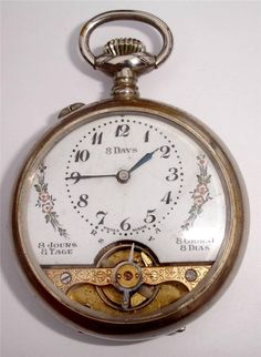 Hebdomas 8 days 49mm pocketwatch - runs for days but won't fully wind