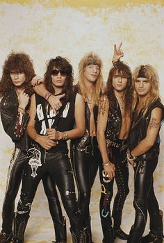 Portrait of American glam rock band Warrant early Pictured are from left Steven Sweet Jerry Dixon Jani Lane Erik Turner and Joel Allen 80s Metal Bands, 80s Hair Metal, Hair Metal Bands, 80s Glam Rock, Glam Rock Bands, Hard Rock, Glam Metal, Daft Punk, Blues Rock