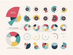 Vector Art : Infographic Elements Pie chart set icon