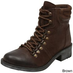 MIA Women's 'Alexa' Distressed Lace-up Motorcycle Boots