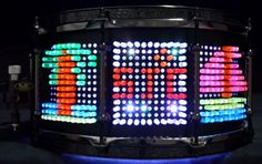 Black satin stain with Lite Brite pieces with LED lights