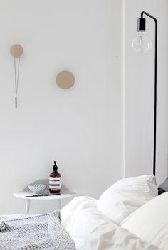 Duvet day in this calm monochrome bedroom? Coco Lapine Design.