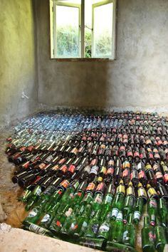 Glass Bottle Floor Insulation