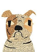 bulldog - tons of cute dogs made from vintage books