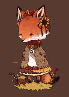 Little Mori Fox Traveling by Maruuki on DeviantArt