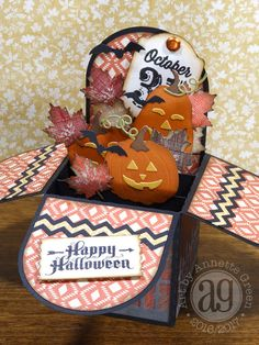 Annette's Creative Journey: Halloween & Fall Box Cards Tutorial