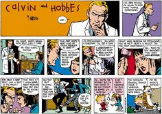 Calvin y Hobbes, Bill Watterson Calvin And Hobbes Comics, Best Calvin And Hobbes, Beste Comics, Playing Doctor, Fun Comics, Comic Strips, I Laughed, Laughter, How To Memorize Things
