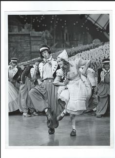 """Jeanette MacDonald and Ray Bolger Dancing to """"Wooden Shoes""""  in Sweethearts - Escano Collection"""