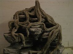 Blog of guy who did mudskipper palu with lots of examples of carved styrofoam rocks and roots