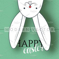Happy easter. Design of festive card by Modern vector on @creativemarket