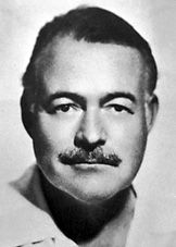 Ernest Hemingway: His weapon of choice was a pen, his R of choice women, hunting and fishing (not necessarily in that order). The fatalism he brought to tales of combat, bullfighting, and the pursuit of big game, as well as his lean prose style, pointed American novelists in new directions. Too macho to abide his burly body's aging, Hemingway ended his own life with a shotgun.