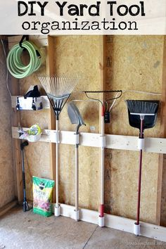 DIY Yard Tool organization #3M DIY