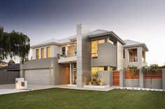 We are Perth's award winning luxury boutique home builders. We focus on our clients lifestyle for one-of-a-kind design, find inspiration in our display homes today! Dream Home Design, Home Design Plans, My Dream Home, House Design, Dream Homes, Modern House Facades, Modern Architecture, Modern Houses, Boutique Homes