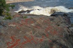 Petroglyphs (rock carvings) at Nämforsen, Ångermanland, Sweden : Wiki Commons