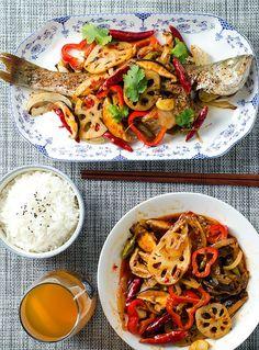 Chinese Spicy Roast Fish (重庆烤鱼)   omnivorescookbook.com