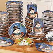 Christmas Snowman Foil Treat Containers - 36 Pc Complete set of colorful and festive containers are holiday-themed and decorated with tight fitting lids. Christmas Goodies, Christmas Snowman, Christmas Treats, Christmas Holidays, Merry Christmas, Christmas Entertaining, Holiday Parties, Snowman Decorations, Christmas Decorations