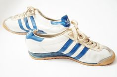 Rare ADIDAS ROM Vintage trainers athletic shoe white blue 3 Stripes sneakers london bern vienna Made in Yugoslavia Vintage Shoes Men, Vintage Tennis, Vintage Adidas, Best Sneakers, Adidas Sneakers, On Shoes, Shoe Boots, Levis, Striped Shoes