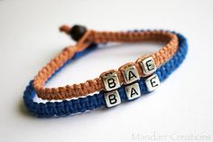 Clearance Sale Coral and Turquoise BAE Bracelets for Couples