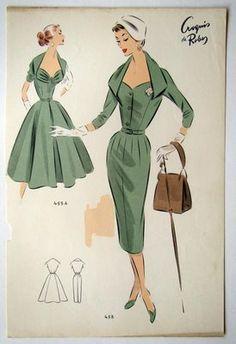 50's luv #vintage #fashion #pattern