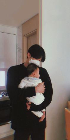 Cute Asian Babies, Cute Funny Babies, Korean Babies, Cute Boys, Father And Baby, Dad Baby, Ulzzang Kids, Ulzzang Couple, Cute Korean