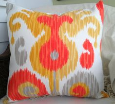 INDOOR OUTDOOR Decorative Pillow Cover  Ikat Print  by decorate23, $20.00