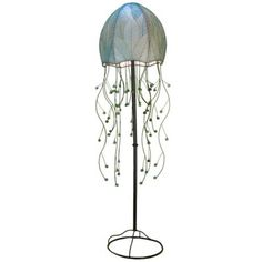 "Eangee Jellyfish Blue Cocoa Leaves 64"" High Floor Lamp $323.91"