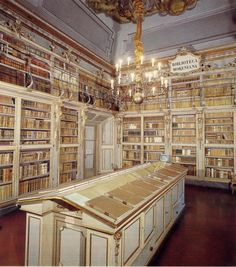 The Library Moreniana in the Palazzo Medici Riccardia in Florence, Italy