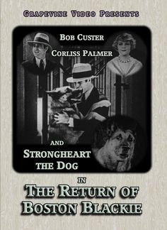The Return of Boston Blackie (1927) Bob Custer and Corliss Palmer star alongside Strongheart the Dog in this silent crime drama. http://www.grapevinevideo.com/return-of-boston-blackie.html