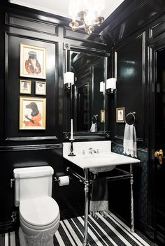 The Truth About Dark Decor: while bright, sun-white walls are trending right now in Mid-Century Modern inspired design, the rich elegance and timeless nostalgia of dark spaces has a certain allure