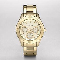 FOSSIL® Watch Collections Stella Watches:Women Stella Stainless Steel Watch - Gold-Tone ES2820