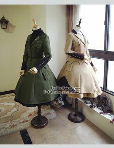fanplusfriend - Steel Rose, Military Lolita Steampunk Double-Layer Uniform Skirt*2colors Instant Shipping, $60.00 (http://www.fanplusfriend.com/steel-rose-military-lolita-steampunk-double-layer-uniform-skirt-2colors-instant-shipping/)