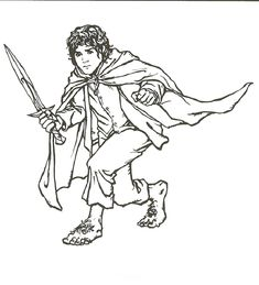Frodo Lord Of The Rings Coloring Page
