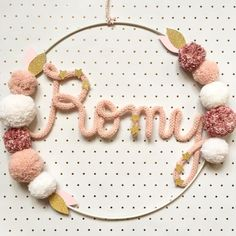 New baby diy name kids 30 Ideas Crochet Baby Mobiles, Crochet Mobile, Tattoo For Baby Girl, Diy Girlande, Baby Deco, Diy Bebe, Baby Room Diy, Diy Baby Gifts, Creation Deco