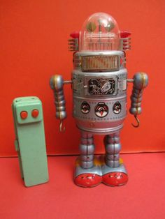 ALPS-DOOR-ROBOT-1950-BATTERY-OPERATED-SPACE-TOY