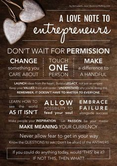 So you think you're not an entrepreneur