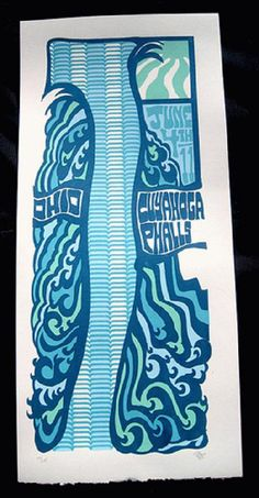 Original silkscreen concert poster Phish in Ohio in 2011. 15 x 21 inches. It is printed on Watercolor Paper with Acrylic Inks. The poster is signed and numbered out of 115 by the artist Tripp.