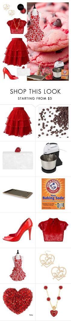 """Strawberry Cookies"" by poorbucky ❤ liked on Polyvore featuring Ella Singh, Edie Parker, Art and Cook, Chanel, N°21, Concrete Minerals, Forever 21 and Dolce&Gabbana"