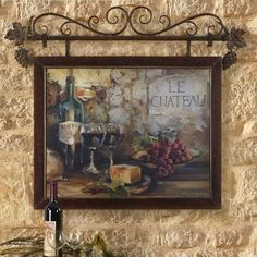 Le Chateau Tuscan French Country Wall Decor (does this make sense Tuscan French Country?) Le Chateau Tuscan French Country Wall Decor (does this make sense Tuscan French Country? Mediterranean Wall Decor, Tuscan Wall Decor, French Country Wall Decor, French Decor, Frames On Wall, Framed Wall Art, Framed Art Prints, Tuscan Design, Tuscan Style