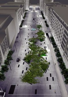 #landarch #urbandesign Plaza de Dali is designed by architect Francisco Mangado. Center of Madrid city.