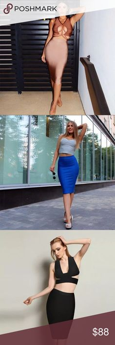 🛒Coming Soon Fashion Pencil Bodycon Bandage 2017 New Fashion Pencil Skirts Women Sexy Summer Bodycon Bandage Skirt Rayon Stretch Knee Length Celebrity Party Midi Skirts Queen Esther Etc Skirts Midi