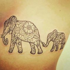 #elephant #daughter #faith #love #tattoo #ribcage ♡