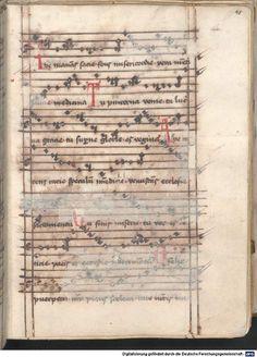 Cantionale, Geistliche Lieder mit Melodien. Münchner Marienklage Tegernsee, 3. Drittel 15. Jh. Cgm 716  Folio 48