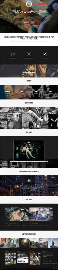 Ink Pro is a wonderful professional #WordPress #Theme for responsive #Tattoo #Shop website with 3 homepage layouts download now➩ https://themeforest.net/item/ink-pro-professional-tattoo-shop-wordpress-theme/16966333?ref=Datasata