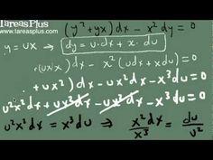 Solución ecuación homogénea por sustitución parte 1