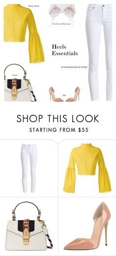 """Four Heels That you have to have in your wardrobe"" by s-thinks ❤ liked on Polyvore featuring Barbour, Daizy Shely, Gucci and For Love & Lemons"