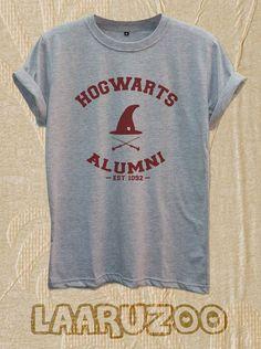 Hogwarts Alumni Shirt Tshirt Harry Potter Shirt Tshirt by LAARUZOO